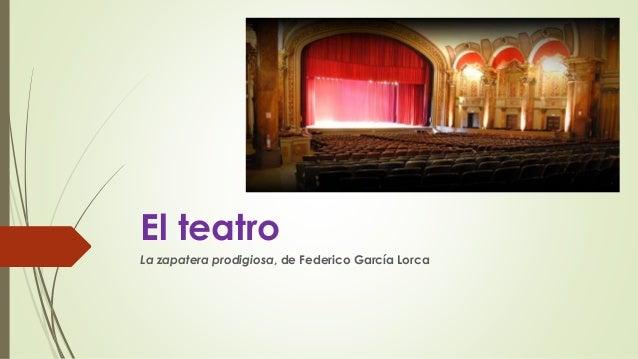 El teatro La zapatera prodigiosa, de Federico García Lorca
