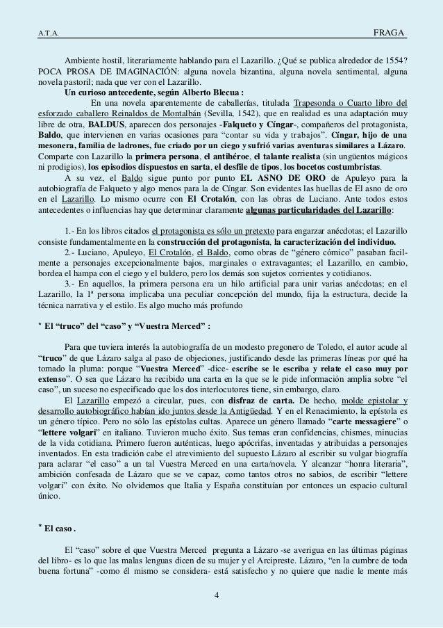 Lazarillo De Tormes Apuntes