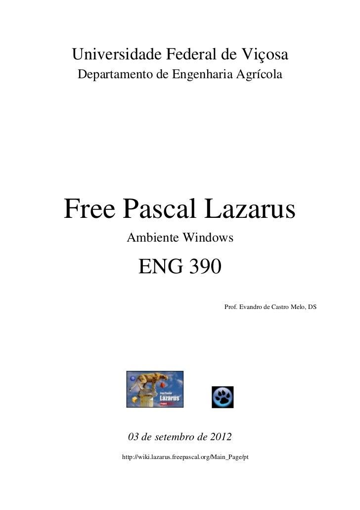 Universidade Federal de Viçosa Departamento de Engenharia AgrícolaFree Pascal Lazarus         Ambiente Windows            ...