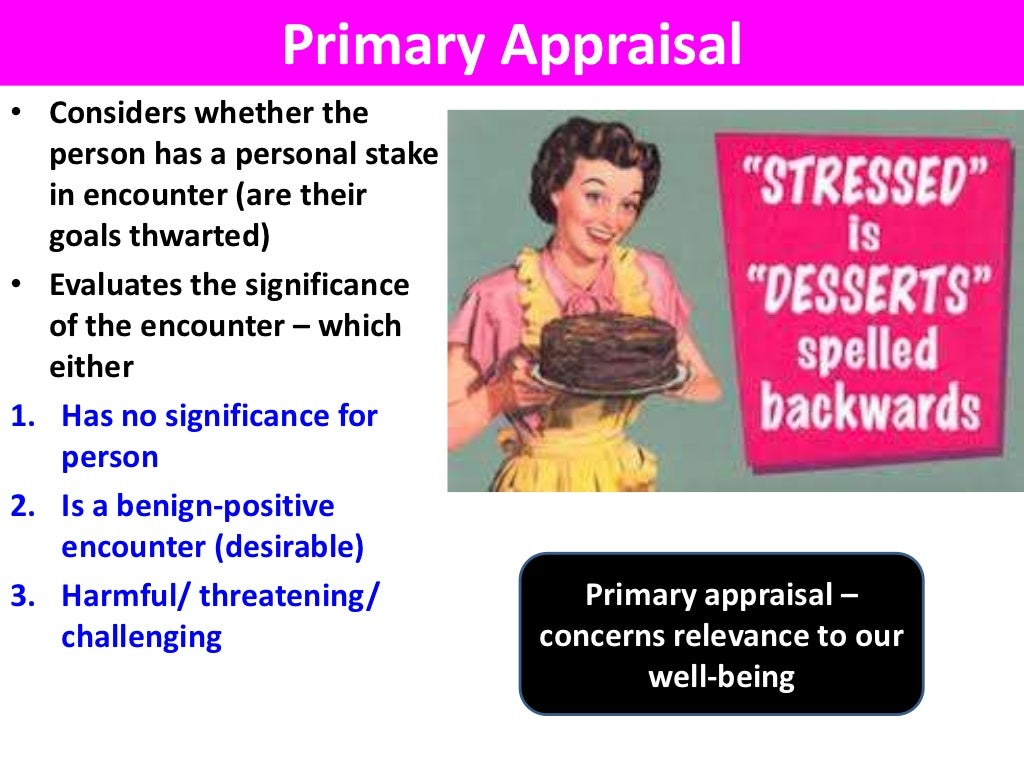 stress appraisal and coping lazarus pdf