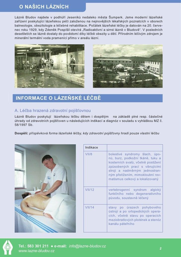 Státní léčebné lázně Bludov Slide 2
