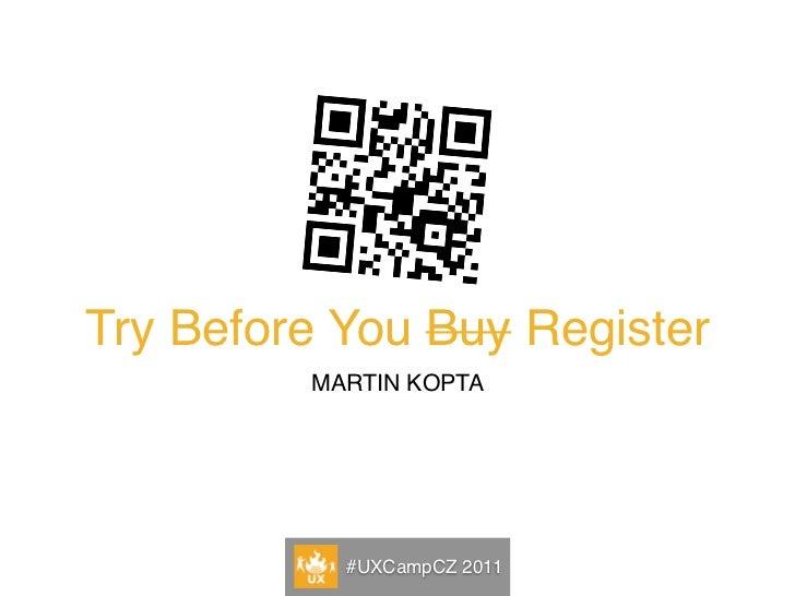 Program            Běžný vzor dnešních registrací            Obvyklé alternativy registrace            Odložená registrace...