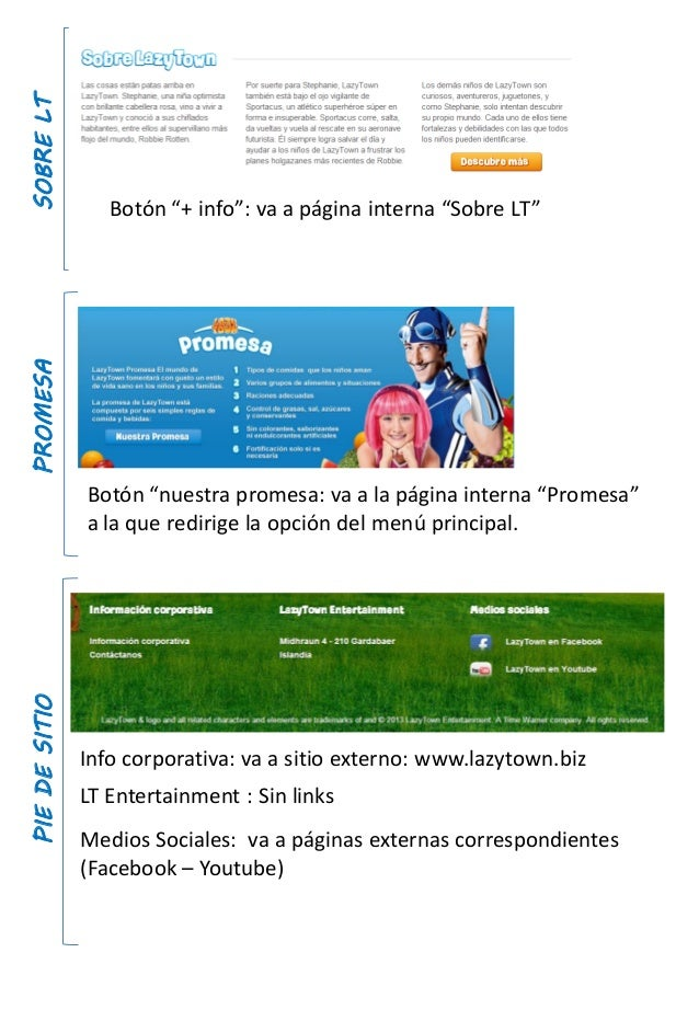 """SOBRELTBotón """"+ info"""": va a página interna """"Sobre LT""""PROMESABotón """"nuestra promesa: va a la página interna """"Promesa""""a la q..."""