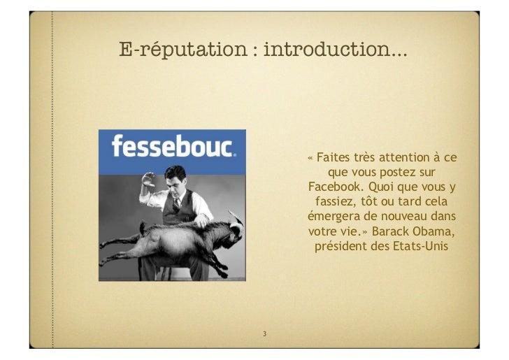 E-reputation : le livre blanc Slide 3