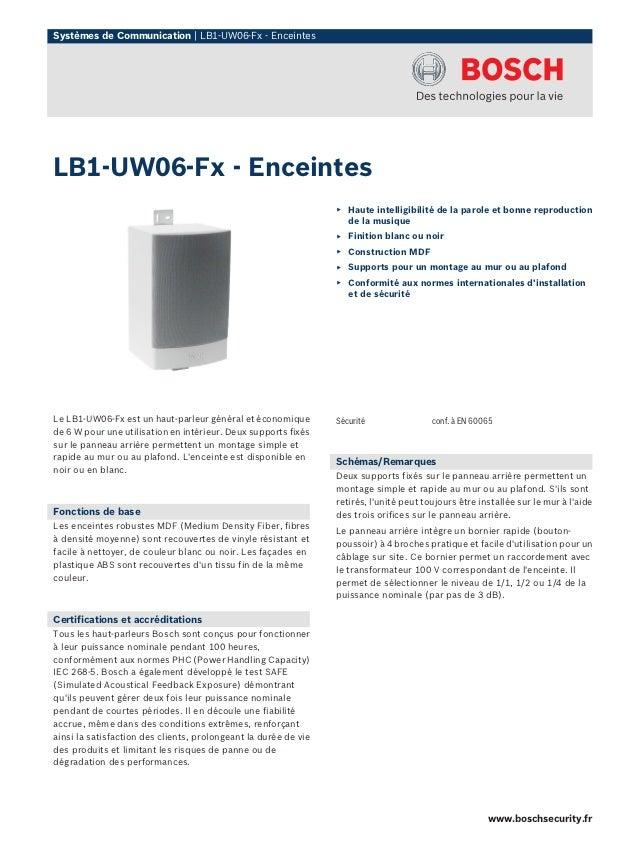 Systèmes de Communication | LB1-UW06-Fx - EnceintesLB1-UW06-Fx - Enceintes                                                ...