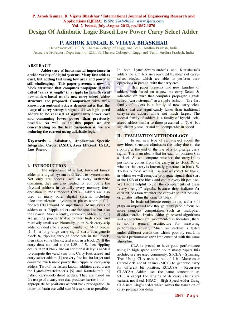 P. Ashok Kumar, B. Vijaya Bhaskhar / International Journal of Engineering Research and                  Applications (IJER...
