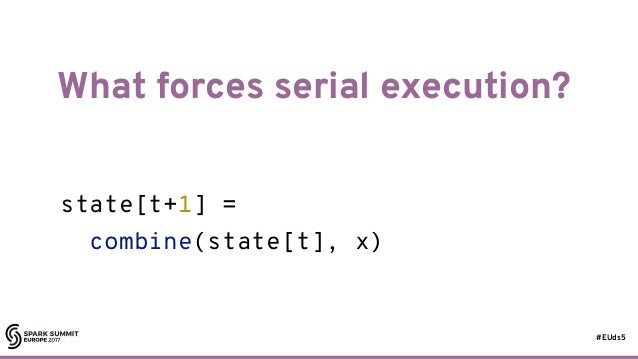 #EUds5 What forces serial execution? 17 state[t+1] = combine(state[t], x)