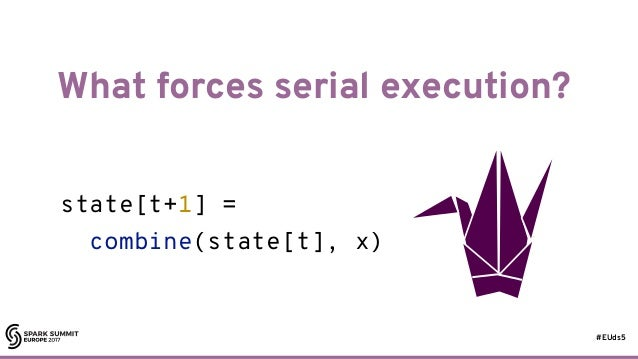 #EUds5 What forces serial execution? 18 state[t+1] = combine(state[t], x)