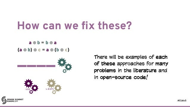 #EUds5 How can we fix these? 25 SGD L-BGFS a ⊕ b = b ⊕ a (a ⊕ b) ⊕ c = a ⊕ (b ⊕ c) There will be examples of each of these...