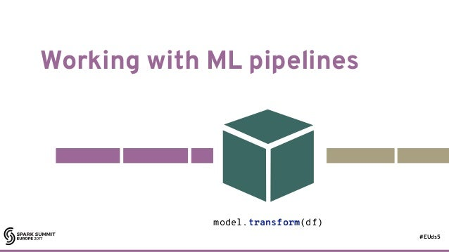 #EUds5 Working with ML pipelines 63 model.transform(df)