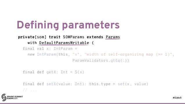 #EUds5 Defining parameters 66 private[som] trait SOMParams extends Params with DefaultParamsWritable { final val x: IntPar...