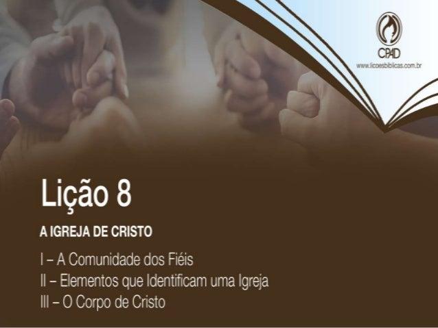 """TEXTO ÁUREO """"Porque onde estiverem dois ou três reunidos em meu nome, aí estou eu no meio deles."""" (Mt 18.20)"""