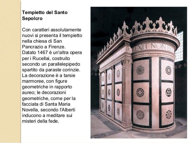 Tempietto del Santo Sepolcro Con caratteri assolutamente nuovi si presenta il tempietto nella chiesa di San Pancrazio a Fi...