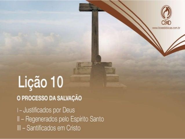"""TEXTO ÁUREO """"Jesus respondeu: Na verdade, na verdade te digo que aquele que não nascer da água e do Espírito não pode entr..."""