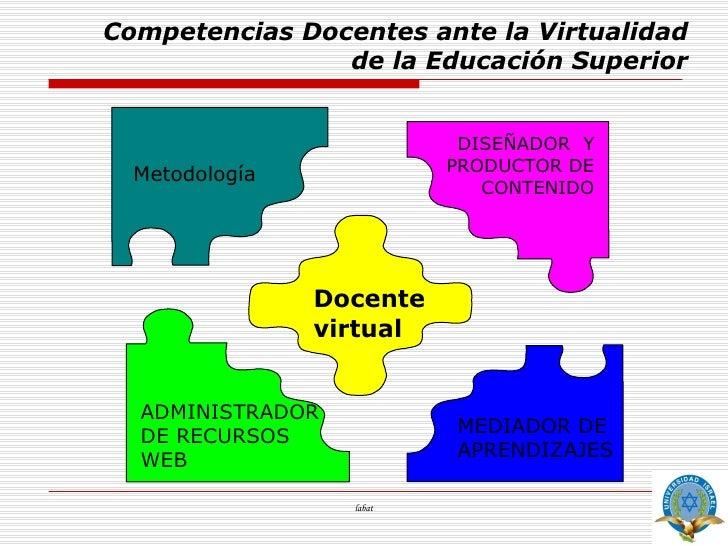 Competencias Docentes De La Educacion Virtual
