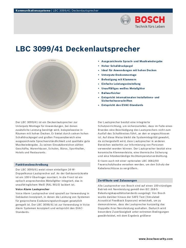 Kommunikationssysteme | LBC 3099/41 DeckenlautsprecherLBC 3099/41 Deckenlautsprecher                                      ...