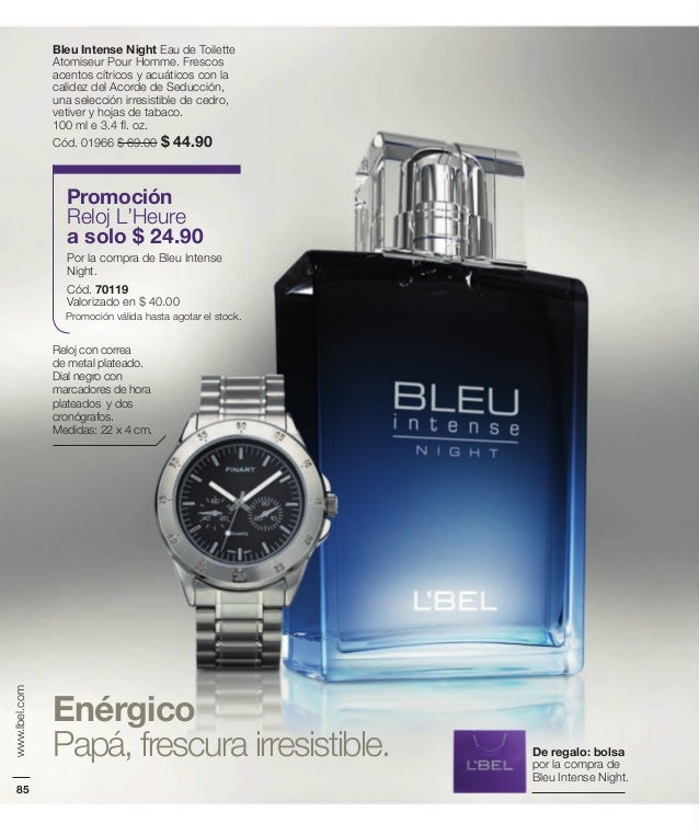 Perfume Bleu Intense Night | Perfume, Aerosol de cuerpo, Lbel