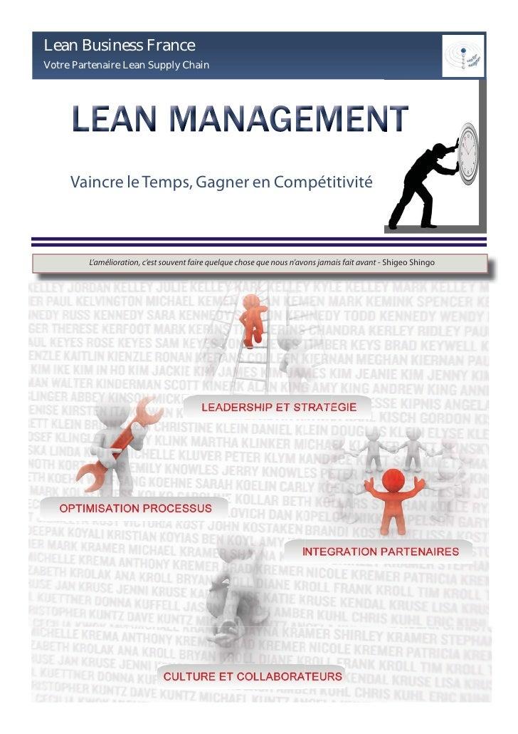Lean Business France Votre Partenaire Lean Supply Chain          Vaincre le Temps, Gagner en Compétitivité             L'a...