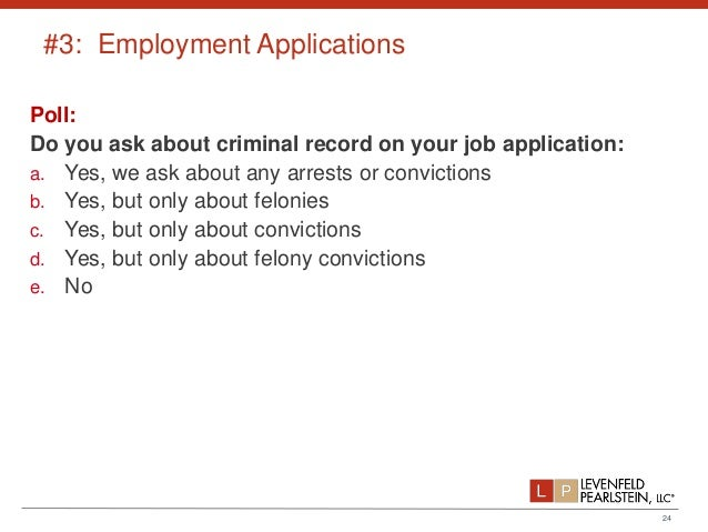 do job applications ask about arrests or convictions