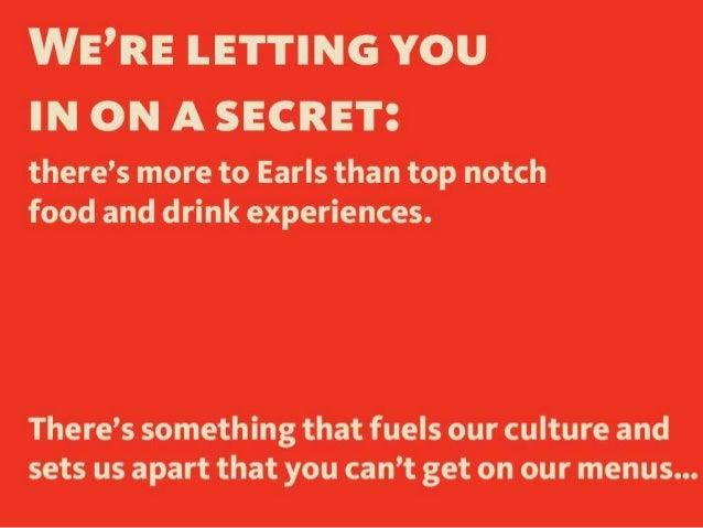 Earls Kitchen + Bar: The Leadership Log  Slide 2