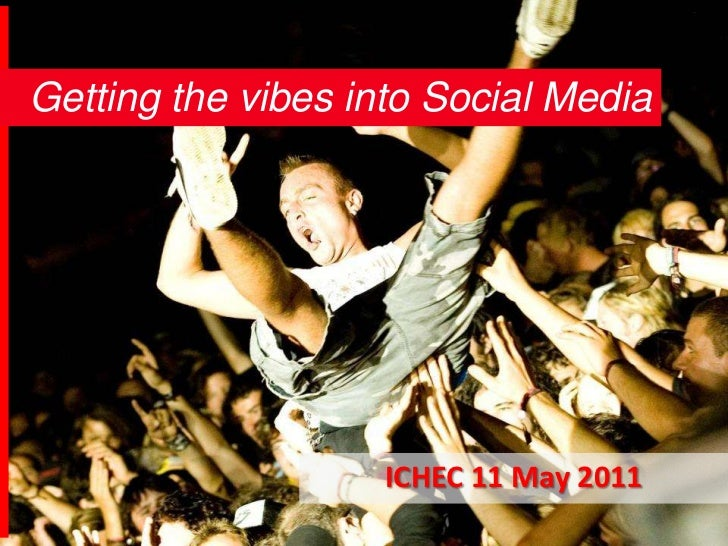 Getting the vibes into Social Media<br />ICHEC 11 May 2011<br />