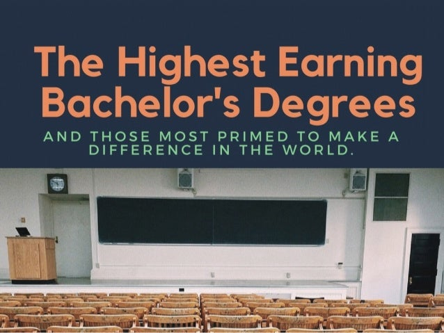 The Highest Paying Bachelor's Degrees 2016-2017  |  Lionel Barzon III