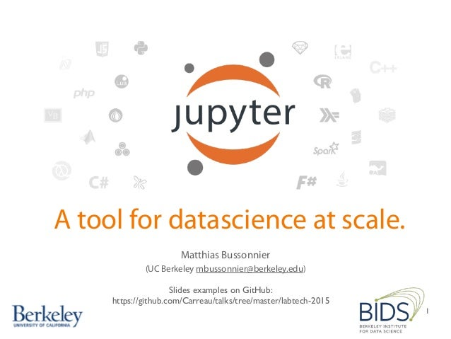 Jupyter, A Platform for Data Science at Scale