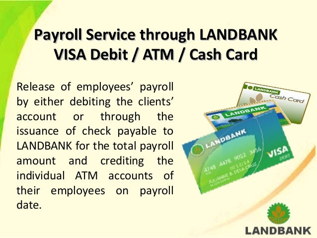 how to get a cash card in landbank