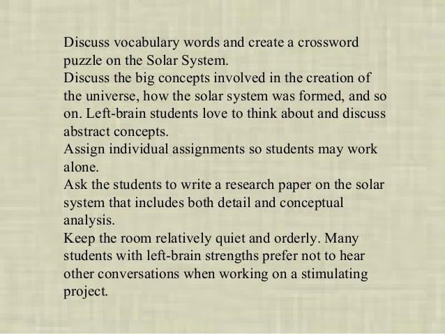right brain vs left brain research paper