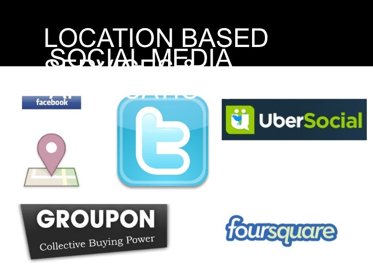 LOCATION BASEDSOCIAL MEDIASERVICES &APPLICATIONS