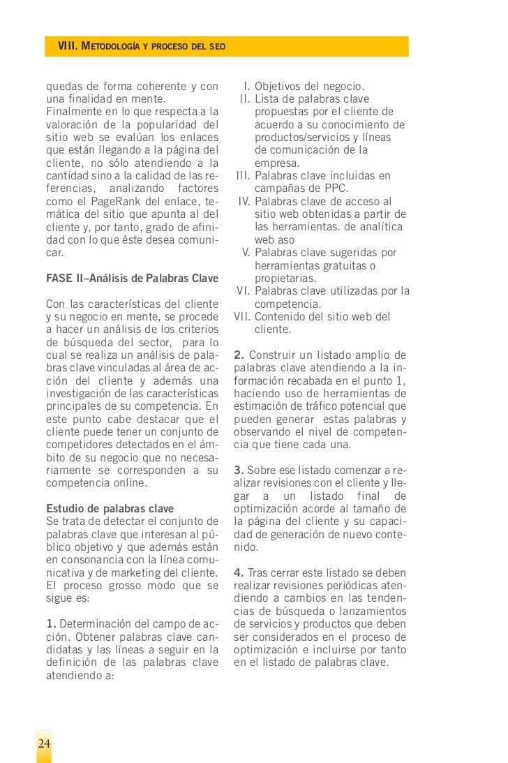¬   VIII. METODOLOGÍA Y PROCESO DEL SEO       Determinar         Listado              Listado        Actualizacio-   campo...