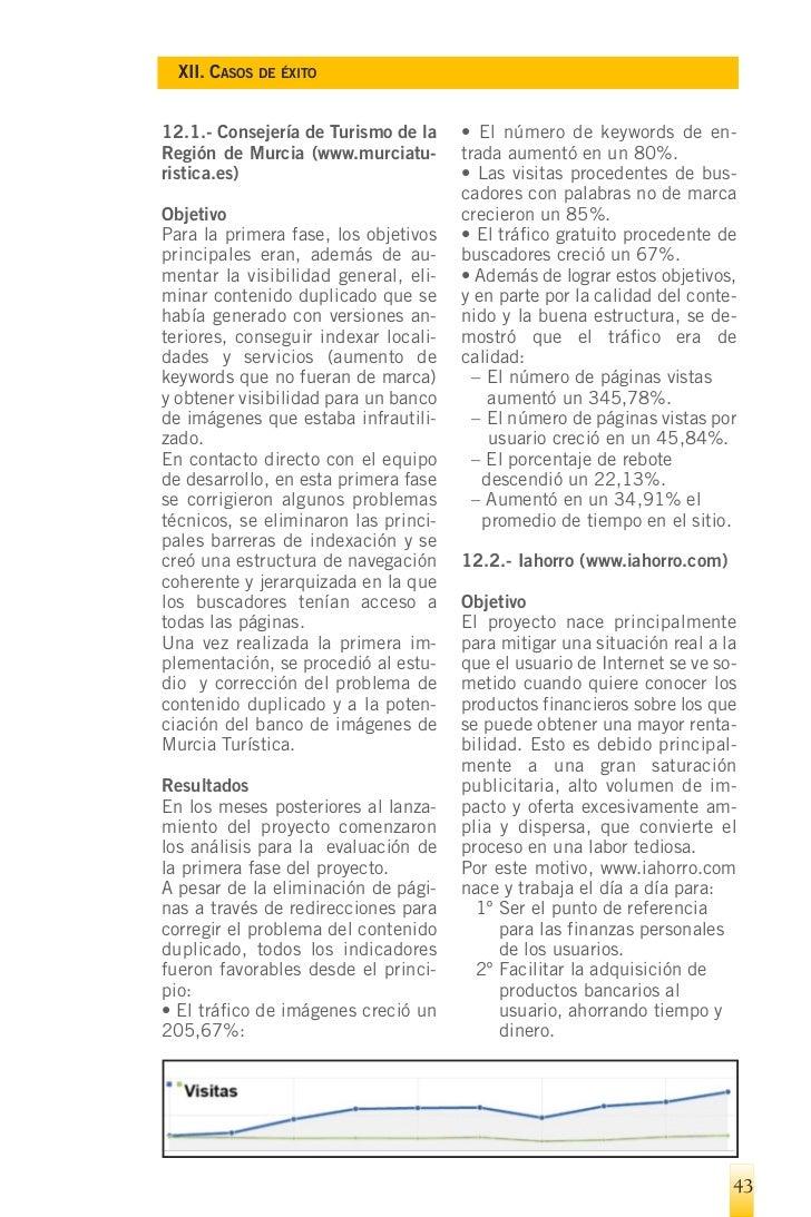 XII. CASOS DE ÉXITO        3º Ser referente en la búsqueda     debido al tráfico natural que recibe         de productos b...
