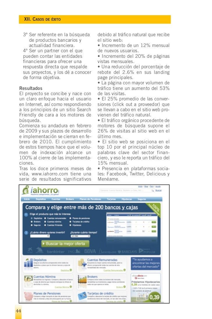 XII. CASOS DE ÉXITO   12.3.- Visiondiez       (www.vision-    siguieron en el diseño y la progra- diez.com)               ...