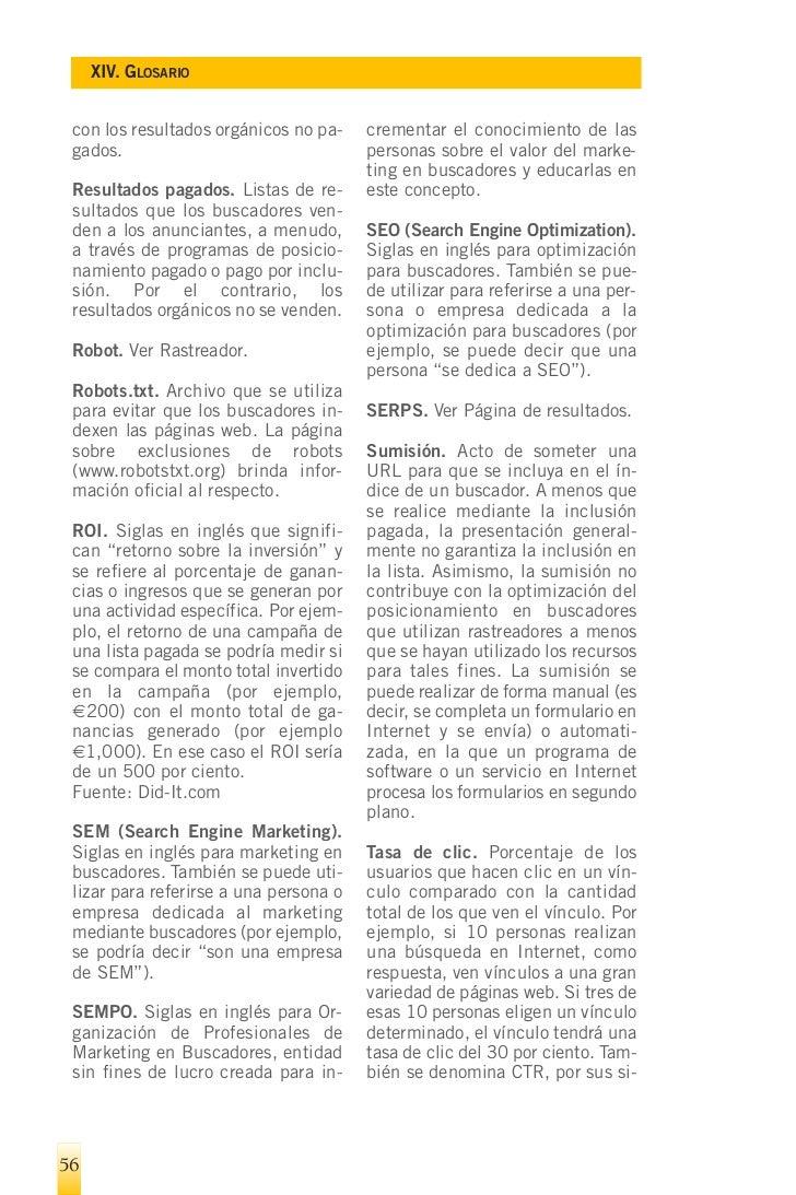 SEO: Optimización de webs para buscadores. Buenas prácticas y resultados