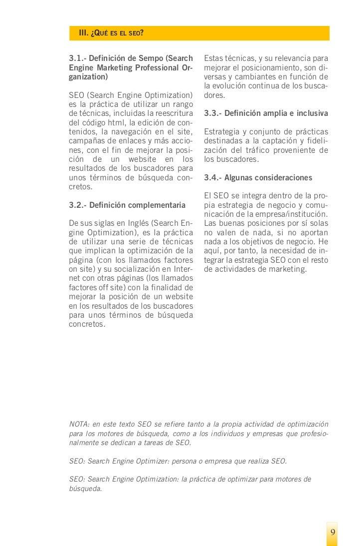 IV. D   IFERENCIAS ENTRE SEO Y SEM
