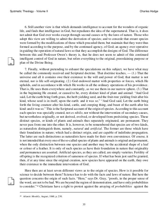 systematic theology essay Works on dogmatic or systematic theology generally begin with the  says in  his essay in barthian theology, entitled revelation and the holy spirit:[p 92.