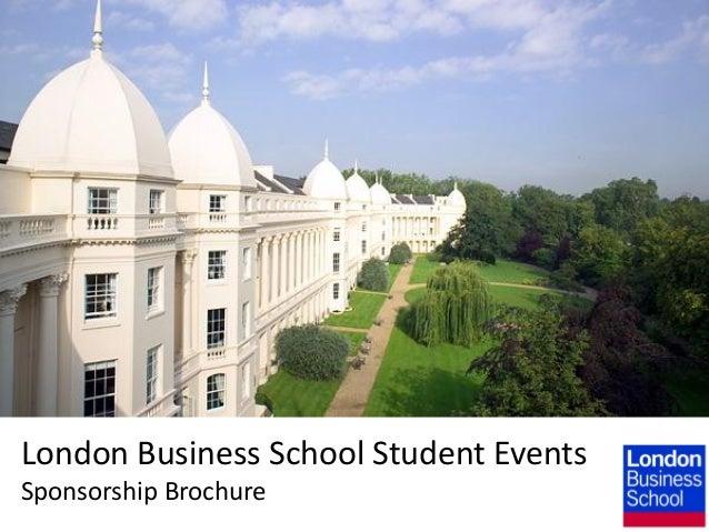 London Business School Student Events Sponsorship Brochure
