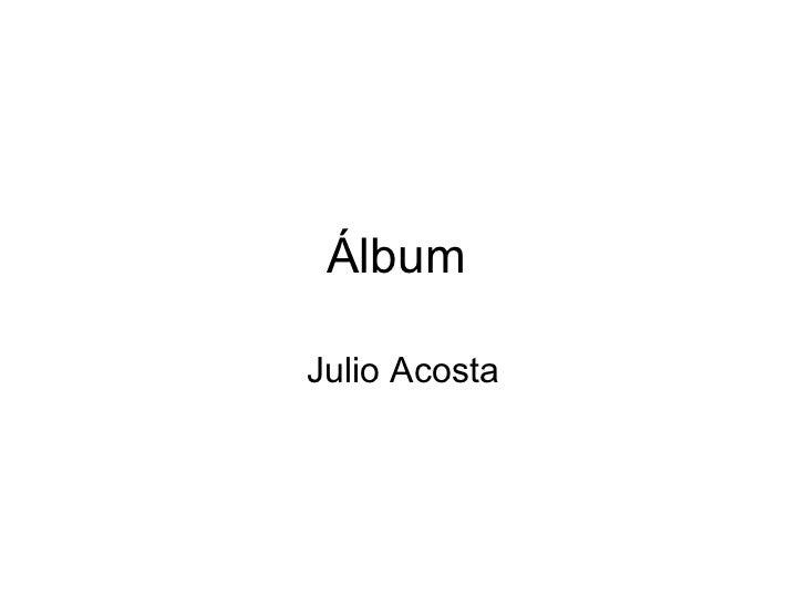 ÁlbumJulio Acosta