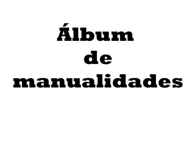 Álbum de manualidades