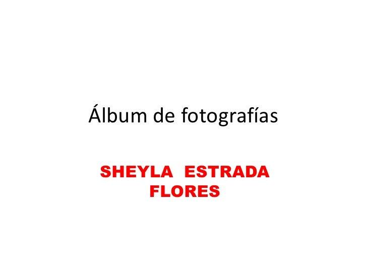 Álbum de fotografías SHEYLA ESTRADA     FLORES