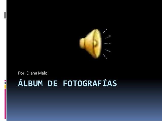 ÁLBUM DE FOTOGRAFÍAS Por: Diana Melo