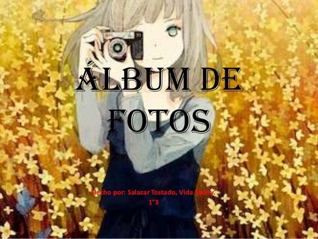 Álbum de FotosHecho por: Salazar Tostado, Vida Merry.                  1°3