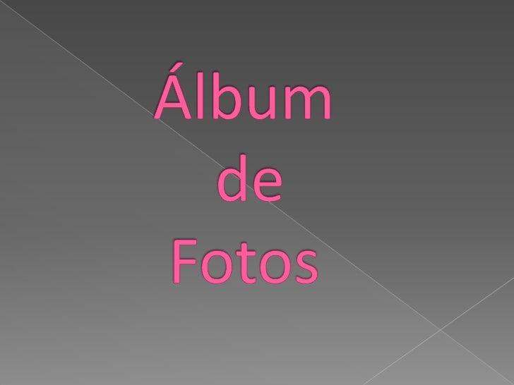 Álbum       de  Fotos<br />