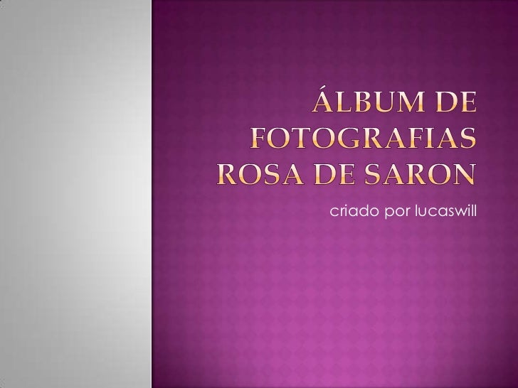 Álbum de fotografiasrosa de saron<br />criado por lucaswill<br />