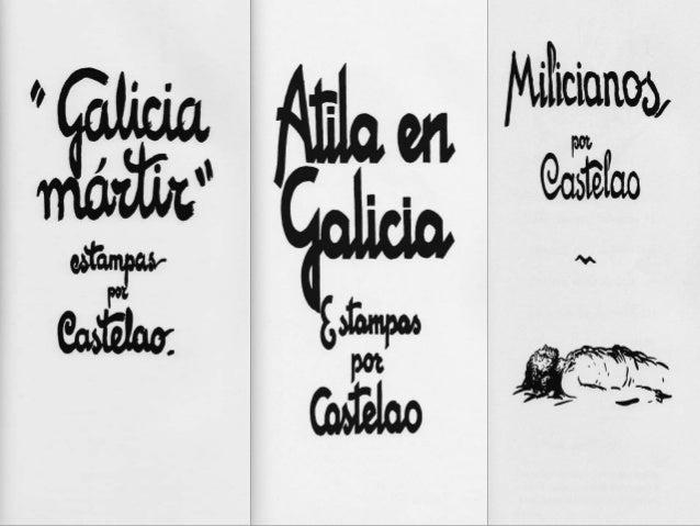 Álbumes de guerra: estampas por Castelao Galicia Mártir. Atila en Galicia. Milicianos. Afonso Daniel Rodríguez Castelao A ...