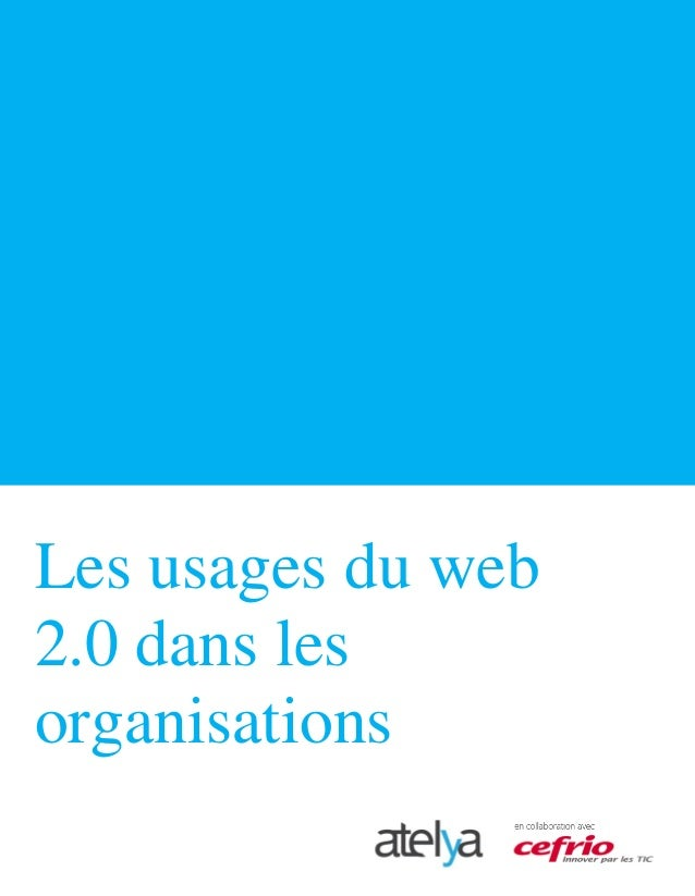 Les usages du web 2.0 dans les organisations