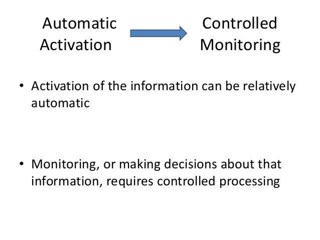 activation monitoring theory