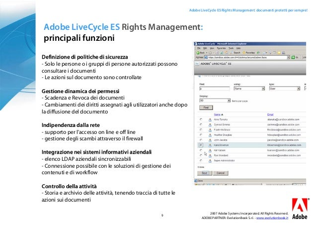 adobe livecycle es rights management documenti protetti With adobe document rights management