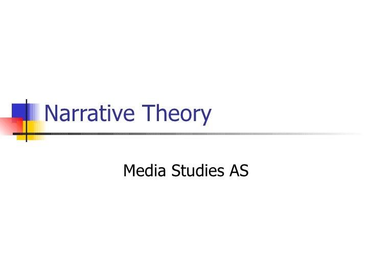 Narrative Theory Media Studies AS
