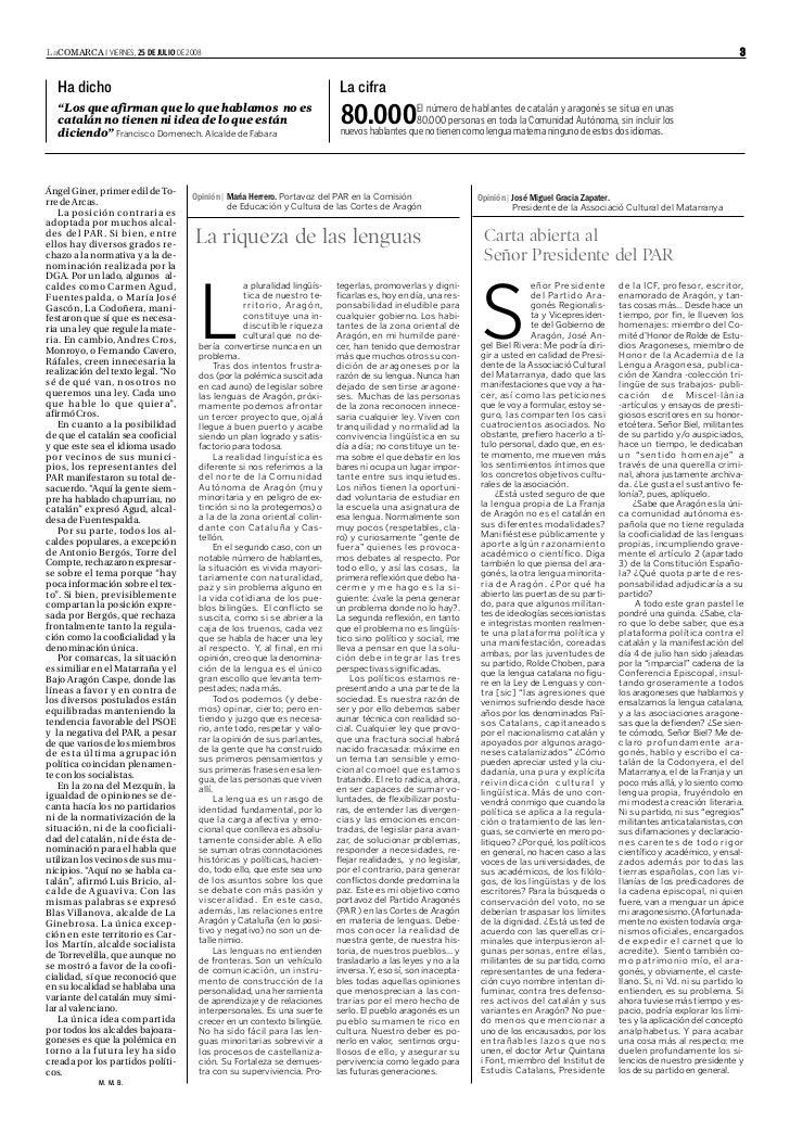 LaCOMARCA I VIERNES, 25 DE JULIO DE 2008                                                                                  ...